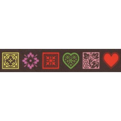 7/8 Inch Love Accents Grosgrain Ribbon Closeout, 10 Yards