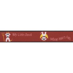 5/8 Inch My Little Devil/Angel Grosgrain Ribbon Closeout, 5 Yards