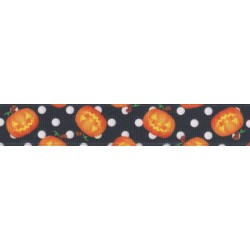 Moonlight Grin Grosgrain Ribbon