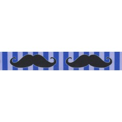 Moustache Grosgrain Ribbon