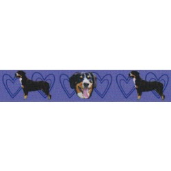 7/8 Inch Purple Entlebucher Mountain Dog Grosgrain Ribbon