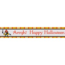 7/8 Inch Pirate Halloween Grosgrain Ribbon