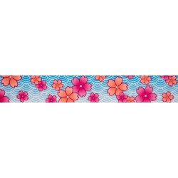 Pink April Blossoms Grosgrain Ribbon