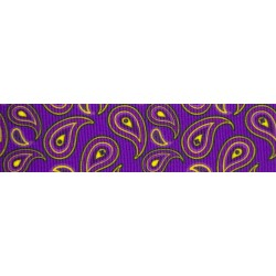 Purple Paisley Grosgrain Ribbon