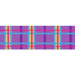 Spring Purple Plaid Grosgrain Ribbon