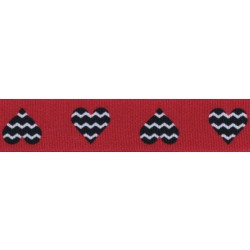 Queen of Hearts Grosgrain Ribbon