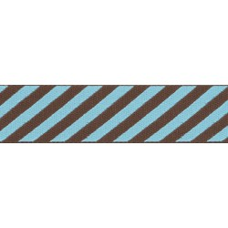 Robin's Egg Stripes Grosgrain Ribbon