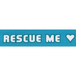 5/8 Inch Rescue Me Grosgrain Ribbon Closeout, 10 Yards