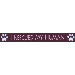I Rescued My Human Grosgrain Ribbon