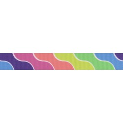 7/8 Inch Spring Kaleidoscope Grosgrain Ribbon Closeout, 10 Yards