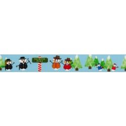 Snowman Party Grosgrain Ribbon