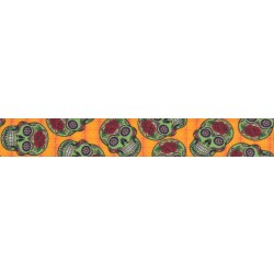 Sugar Skulls Grosgrain Ribbon