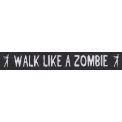 7/8 Inch Walk Like a Zombie Grosgrain Ribbon