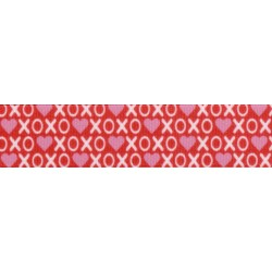7/8 Inch XOXO Grosgrain Ribbon, 5 Yards