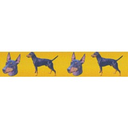 Manchester Terrier Grosgrain Ribbon