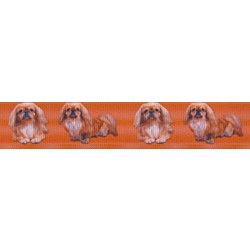 Pekingese Grosgrain Ribbon