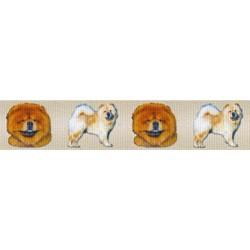 7/8 Inch Chow Chow Grosgrain Ribbon