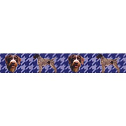 7/8 Inch German Wirehaired Pointer Grosgrain Ribbon