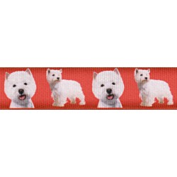 West Highland Terrier Grosgrain Ribbon