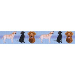 7/8 Inch Labrador Retriever Grosgrain Ribbon