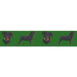 7/8 Inch Rottweiler Grosgrain Ribbon