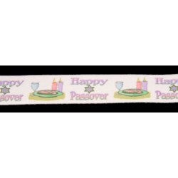 1 Inch Happy Passover Cotton Ribbon, 1 Yard