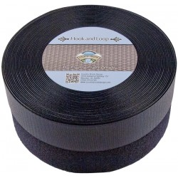 2 Inch Black Sew on Hook and Loop, 2 Rolls of 5 Yards
