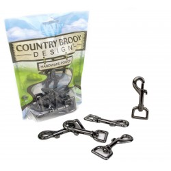 3/4 Inch Gunmetal Swivel Snap Hooks