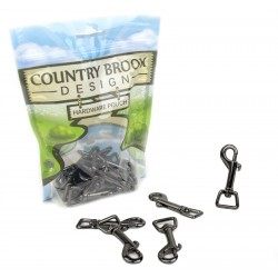 5/8 Inch Gunmetal Swivel Snap Hooks