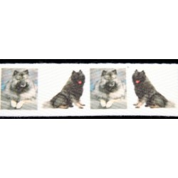 1 Inch Keeshond Cotton Ribbon, 1 Yard