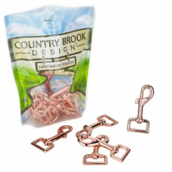 1 Inch Rose Gold Lightweight Swivel Snap Hooks
