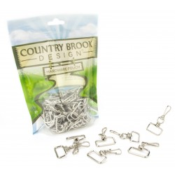 Country Brook Design® 1 Inch Swivel Square Top Lanyard Hooks