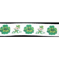 Luck O' the Irish Cotton Ribbon - Various Lengths & Widths