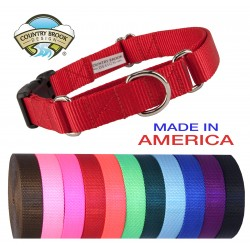 10 - Heavyduty Nylon Martingale with Deluxe Buckle (Various Sizes & Colors)