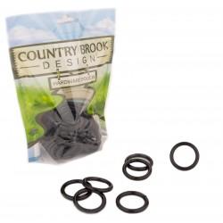 1 Inch Black Powder Coated Welded Heavy O-Rings
