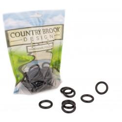 3/4 Inch Black Powder Coated Welded Heavy O-Rings