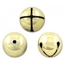 1 Inch Brass Plated Jingle Bells Closeout