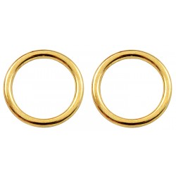 1/2 Inch Die Cast Brass Plated O-Rings Closeout