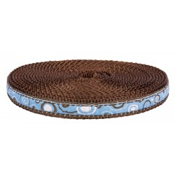 1/2 Inch Blue and Brown Orbs Ribbon on Brown Nylon Webbing Closeout