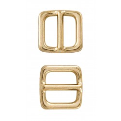3/4 Inch Brass Plated Frame Metal Heavy Triglide Slides Closeout