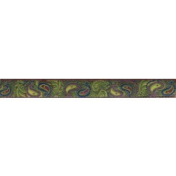 Dark Paisley Jacquard Ribbon Closeout