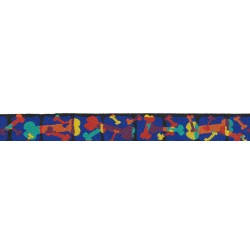 Multi-Colored Bones Jacquard Ribbon Closeout - Various Widths & Lengths Available