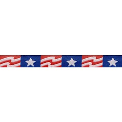 5/8 Inch Patriotic Band Jacquard Woven Ribbon Closeout - Various Lengths Available