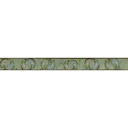 5/8 Inch Paisley Pairs Jacquard Ribbon Closeout - Various Lengths Available