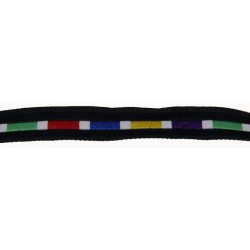 7/16 Inch Rainbow Brick Road Woven Jacquard Braid Ribbon - Various Lengths