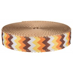 1 Inch Allegheny Autumn on Copper Gold Webbing Closeout, 5 Yards