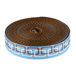 1 Inch Linkz Ribbon on Brown Nylon Webbing