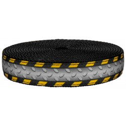 1 Inch Industrial Ramp on Black Nylon Webbing Closeout