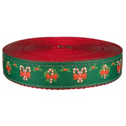 1 Inch Christmas Memories on Red Nylon Webbing