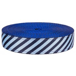 1 Inch Night Sky Stripes on Royal Blue Nylon Webbing